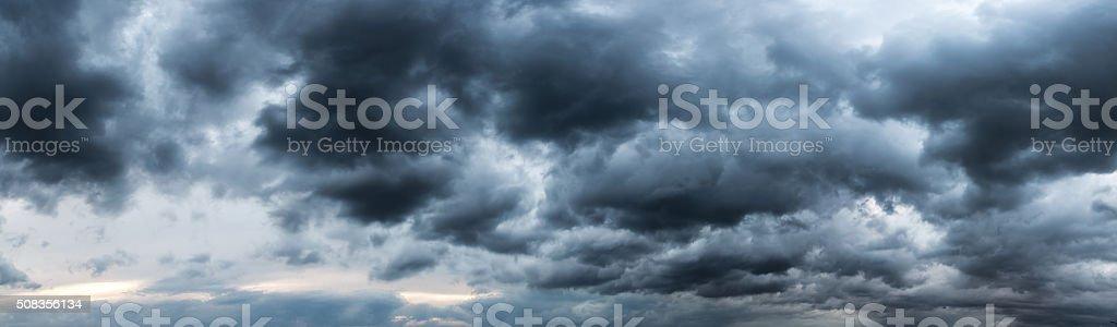 Strom cloud panaroma stock photo