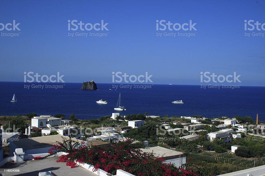 Stromboli Landscape royalty-free stock photo