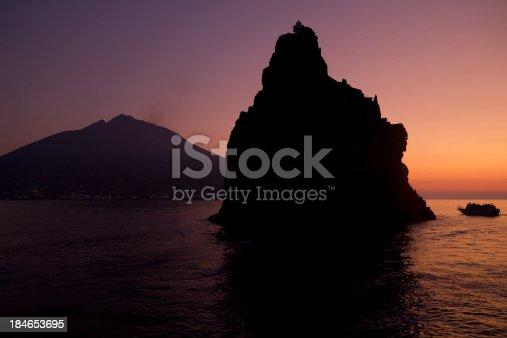 istock Stromboli Volcano at the sunset 184653695
