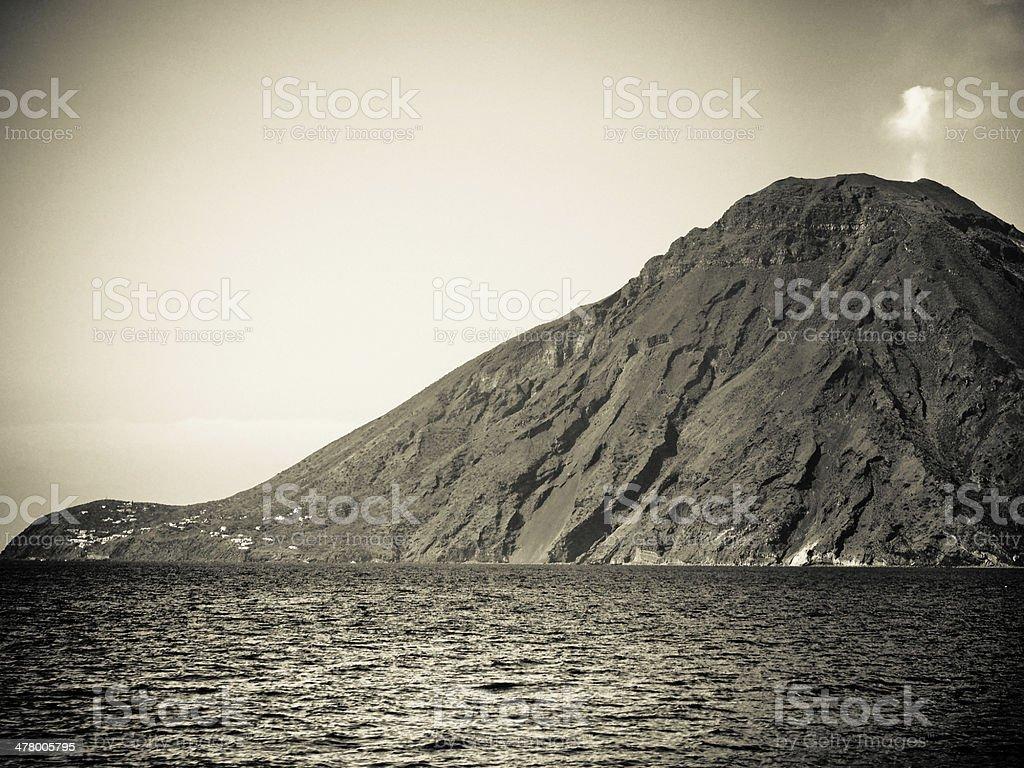 Stromboli volcano royalty-free stock photo