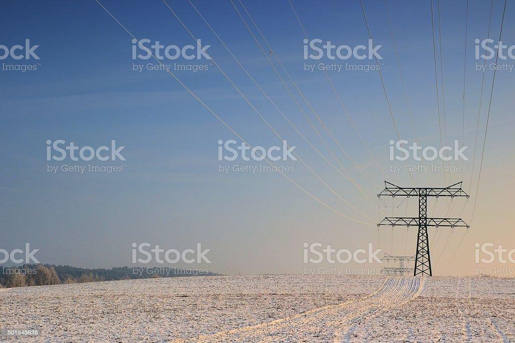 Strommasten stock photo