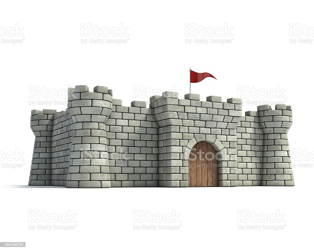 fort 3d illustration royalty-free stock photo
