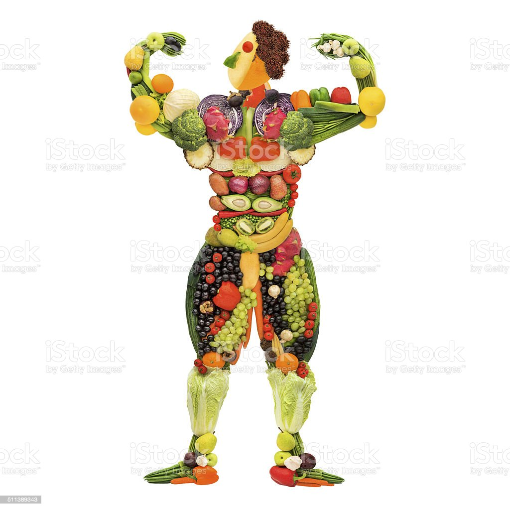 Strong and healthy. stock photo