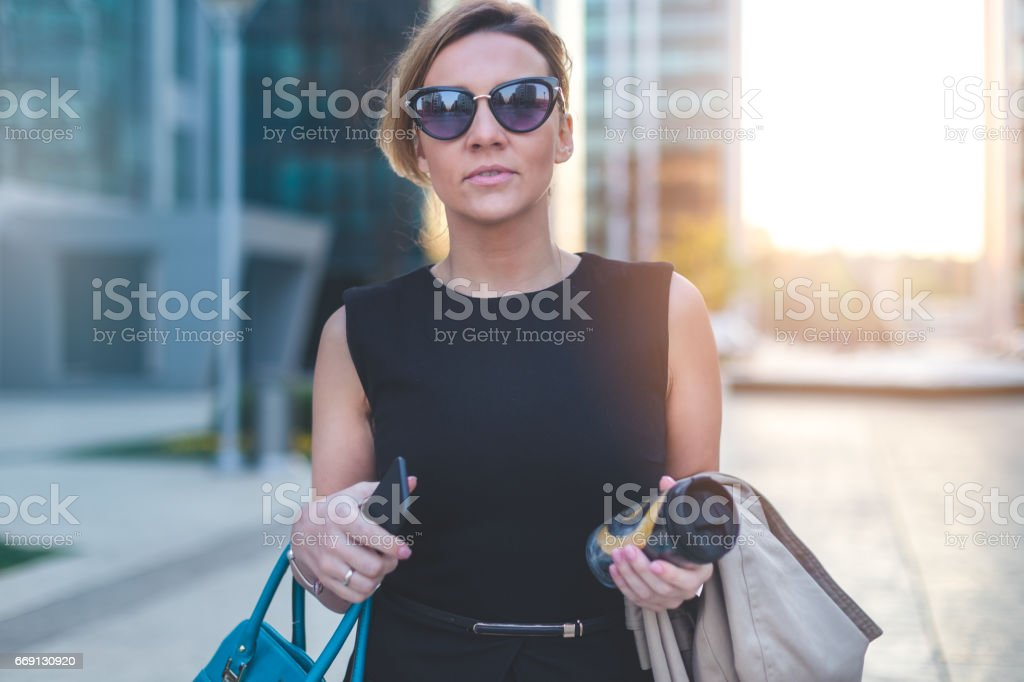 Strong and successful female stock photo