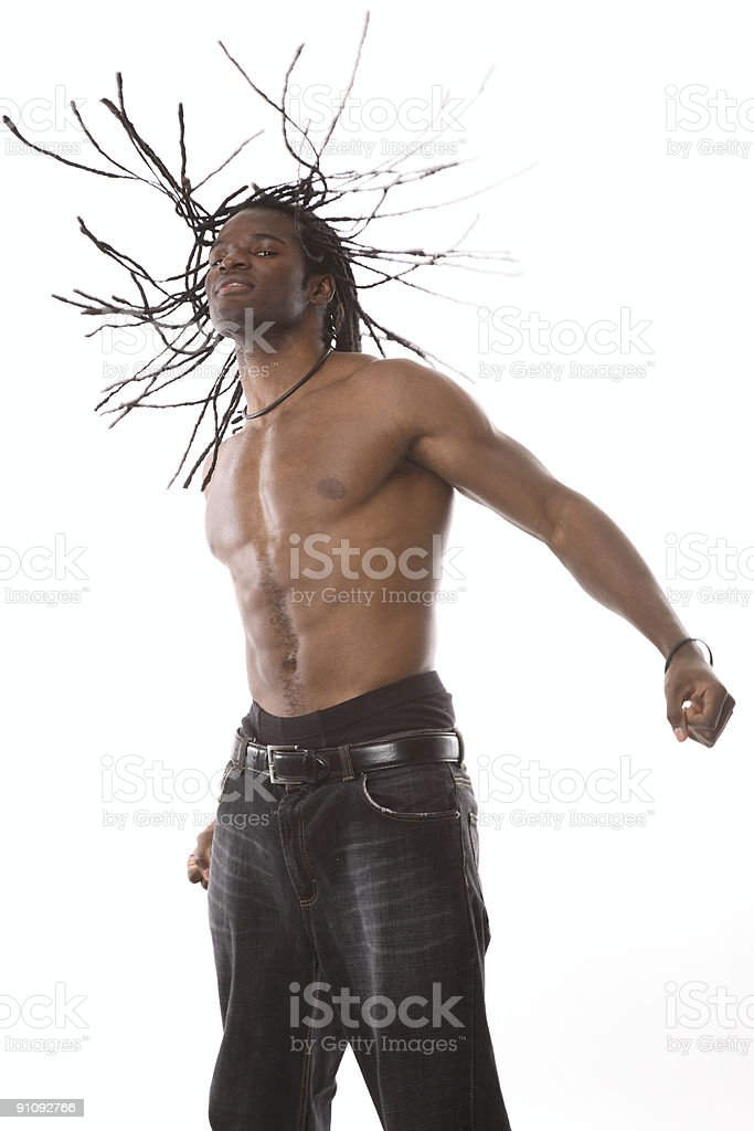 Strong Athletic African American Male royalty-free stock photo