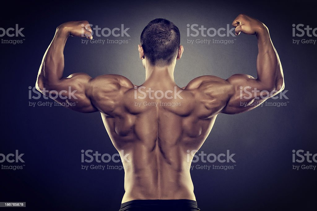 Strong Back stock photo