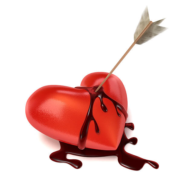 Best Heart Dripping Blood Silhouettes Stock Photos