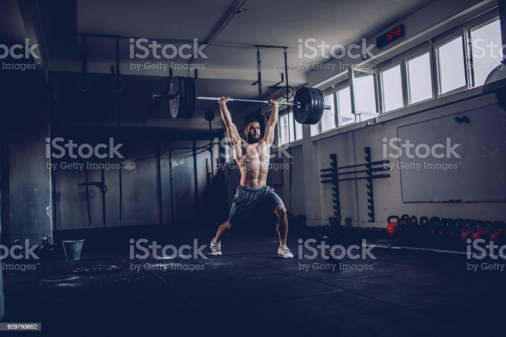 Strong bodybuilder stock photo
