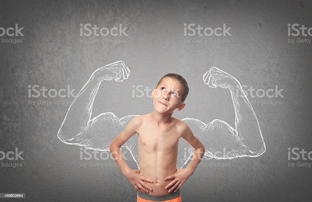 Strong Boy stock photo