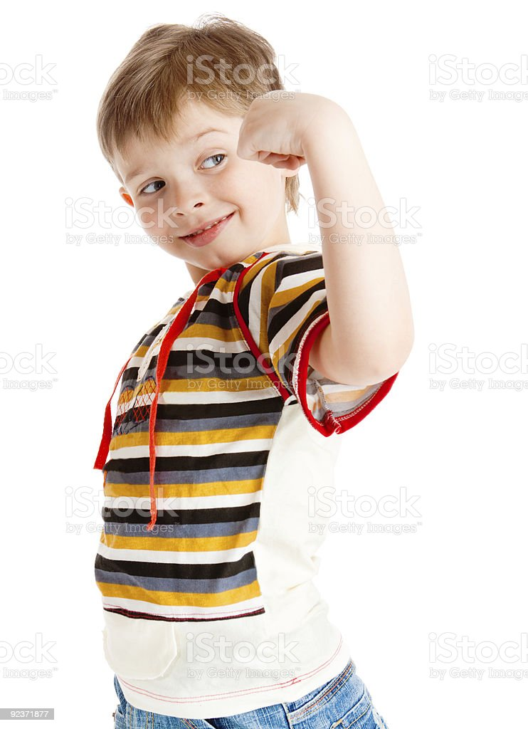 Strong boy royalty-free stock photo