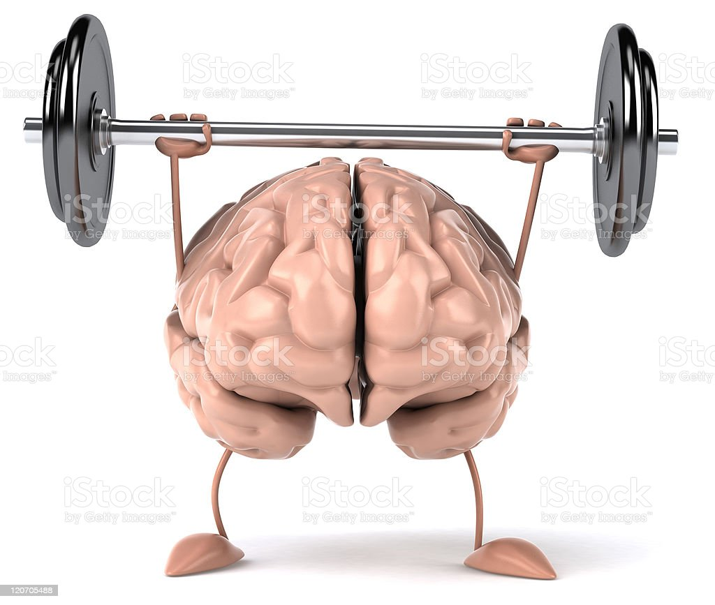Strong brain stock photo