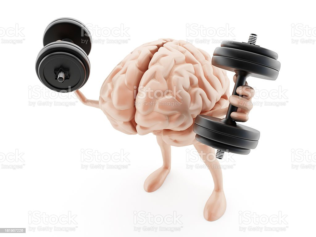 Strong brain stock photo