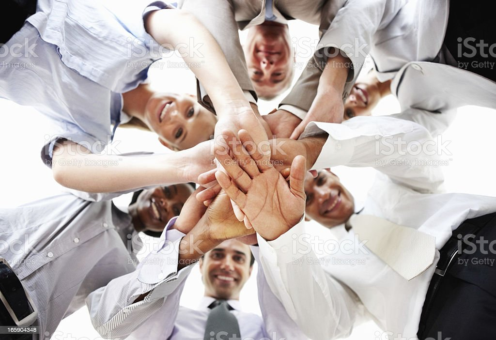 Strong business team royalty-free stock photo