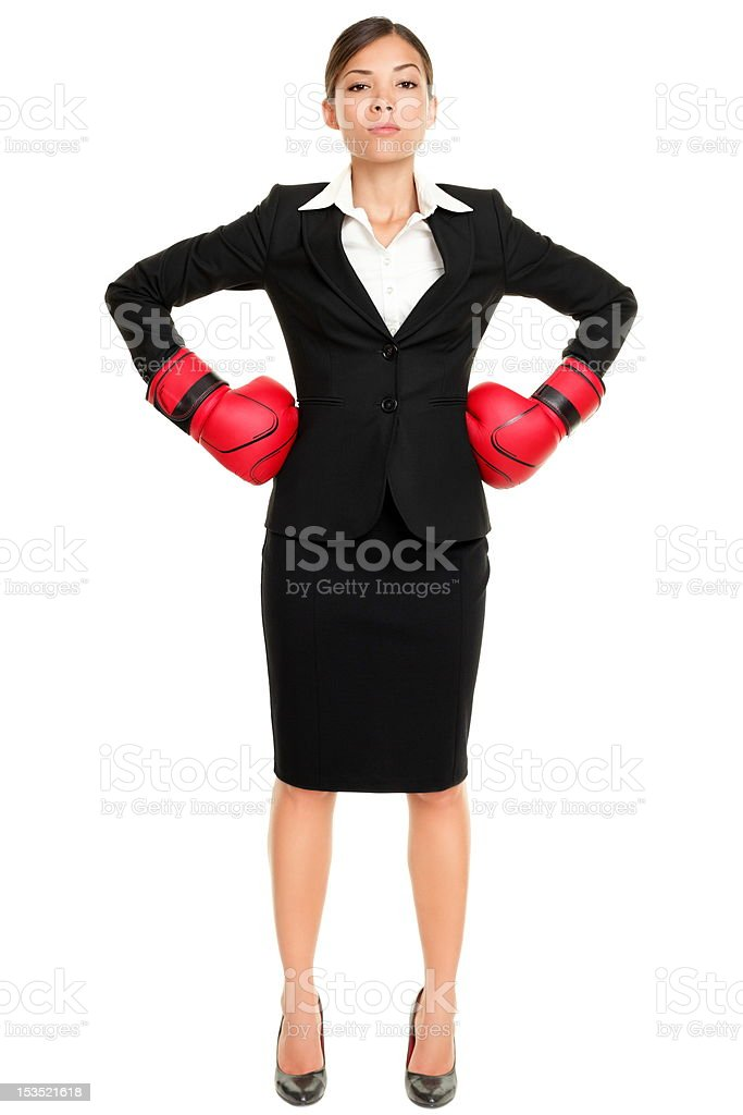 Strong business woman boss concept royalty-free stock photo