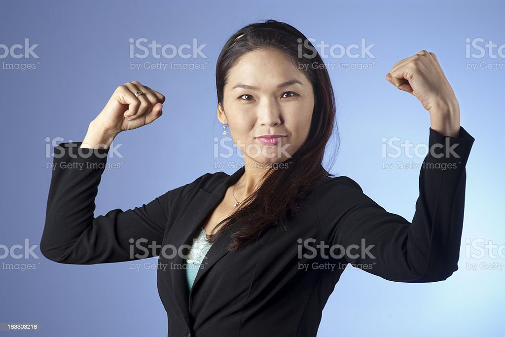 Strong Business Woman royalty-free stock photo