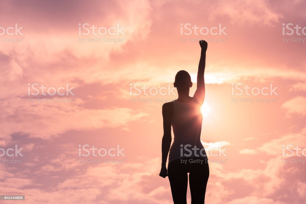 Strong confident woman stock photo
