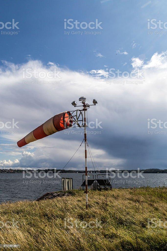 Strong crosswind stock photo
