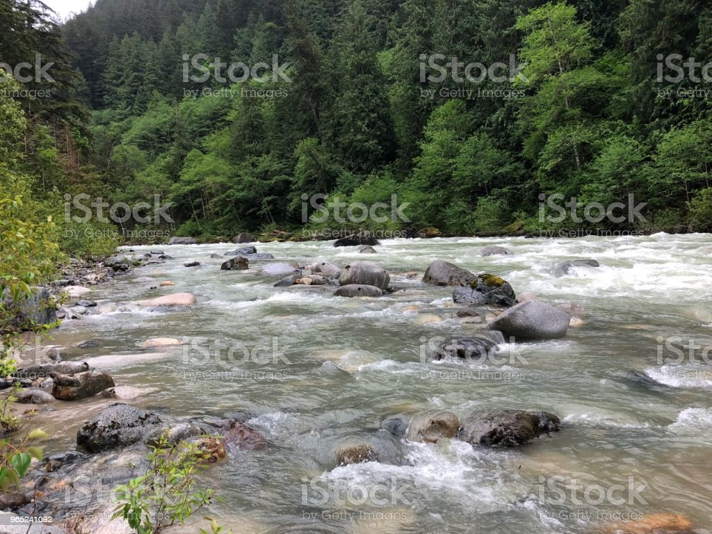 Strong current in the rivers royalty-free stock photo
