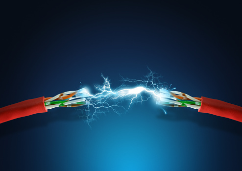 600401714 istock photo A strong electrical connection between two red wires 152023461