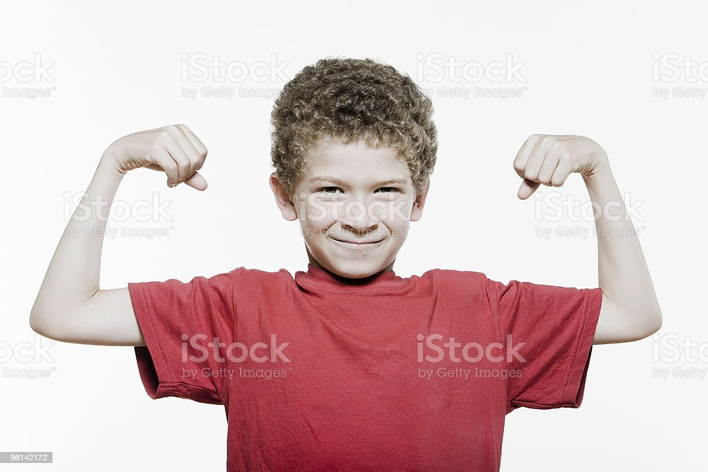 strong Expressive Kids royalty-free stock photo