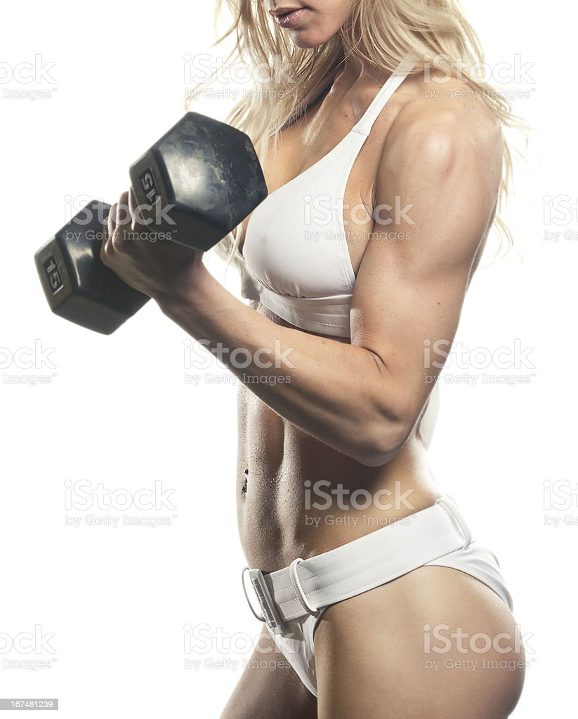 Strong Female Fitness Model royalty-free stock photo