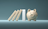 istock Strong financial support concept still life. 1309063384