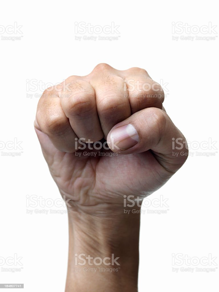 Strong fists royalty-free stock photo