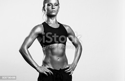 istock Strong fitness woman with attitude 509796496