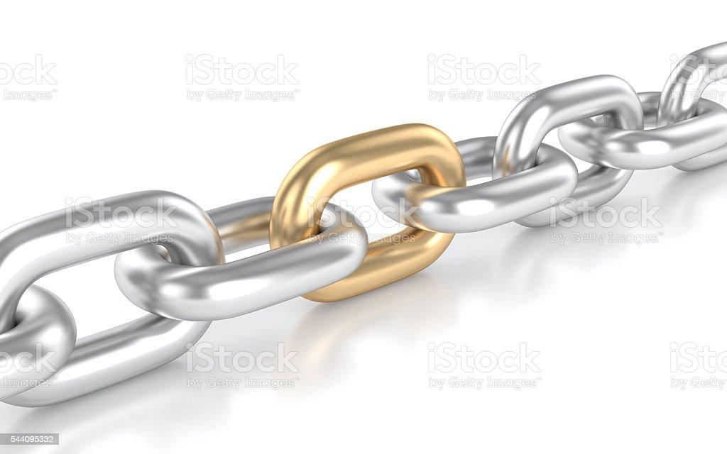 Fuerte cadena de oro - foto de stock
