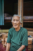 A Strong Grandma with Traditional Balinese Culture