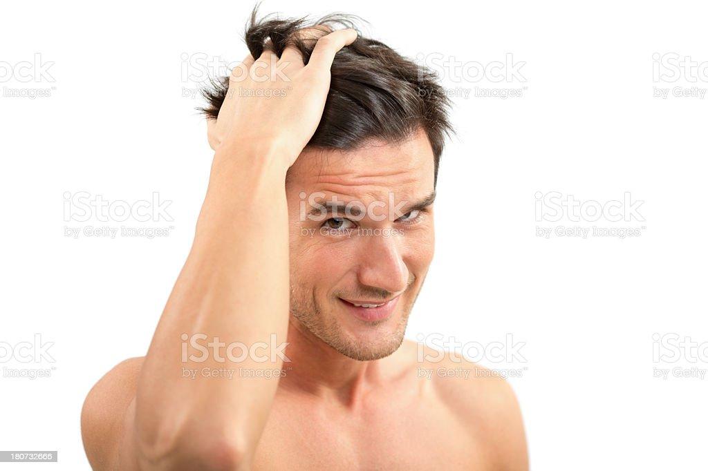 Strong hair stock photo