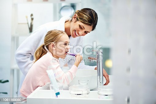 istock Strong, healthy teeth require care from a young age 1061169392