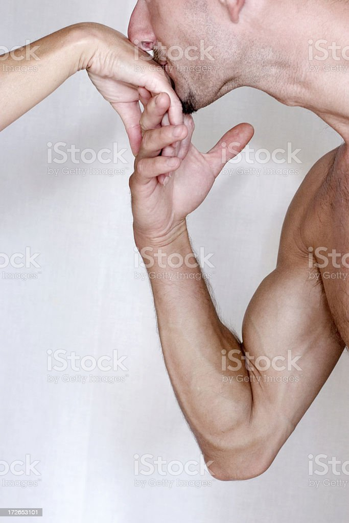 Strong kiss stock photo