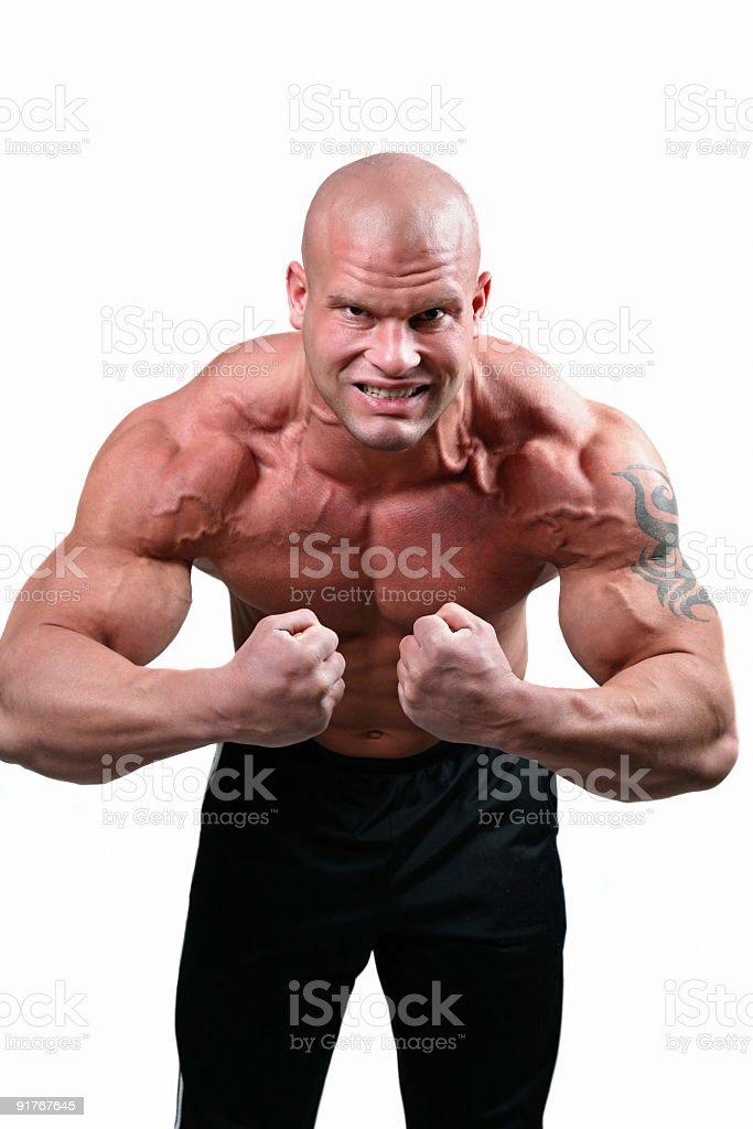 Strong man posing royalty-free stock photo