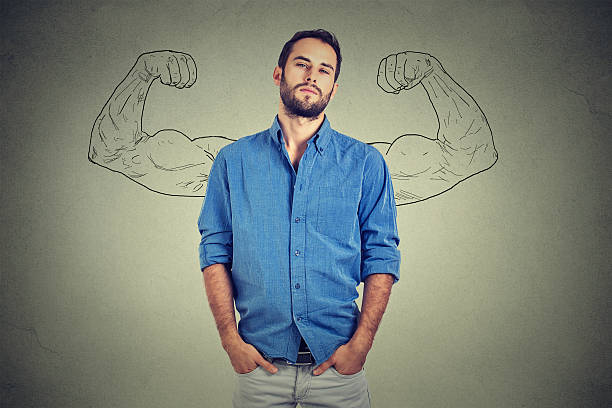 strong man, self confident young entrepreneur - arrogance stock pictures, royalty-free photos & images