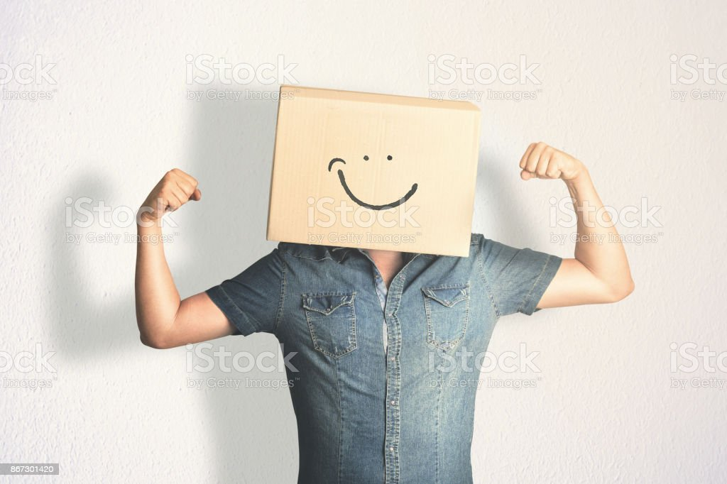 strong man smiling stock photo
