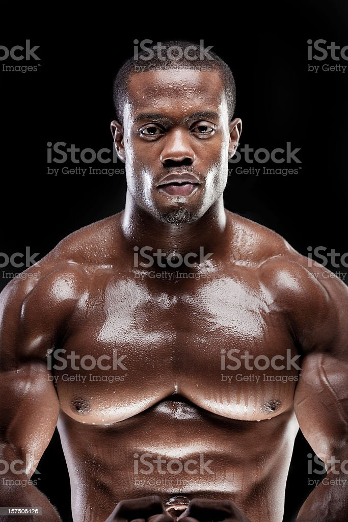 Strong Man Sweating royalty-free stock photo