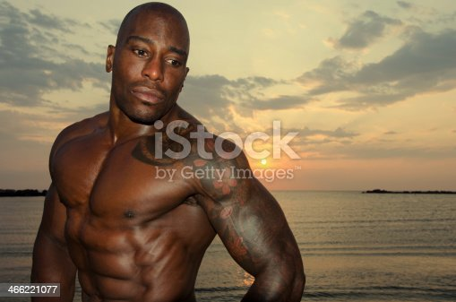 519676858istockphoto Strong man with perfect abs, shoulders,biceps, triceps and chest 466221077