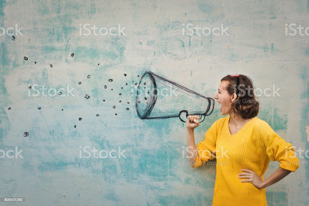 Strong messages stock photo