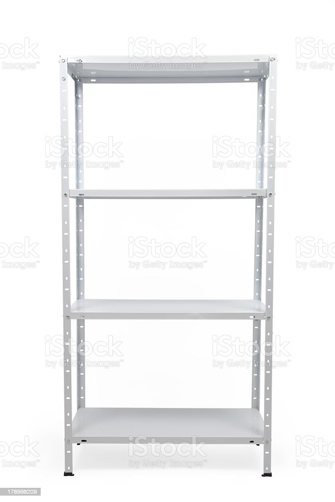 Strong Metal Warehouse Shelves stock photo