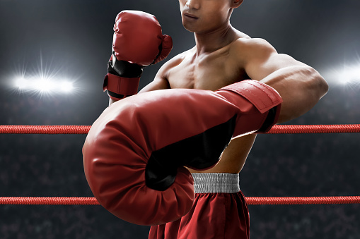 istock Strong muscular boxer 1072414500