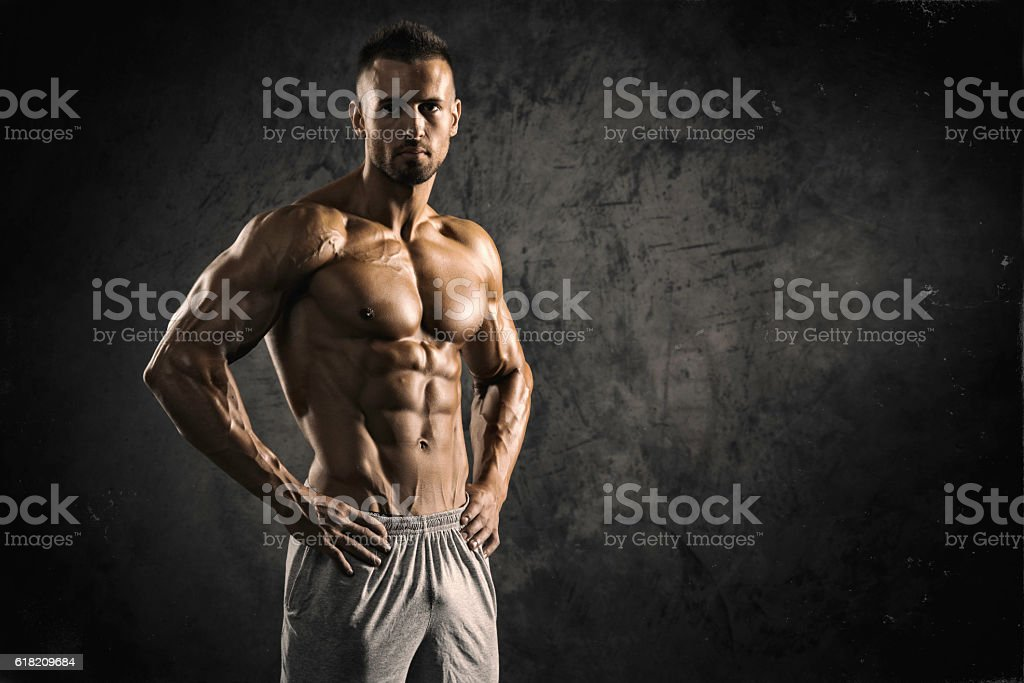 Strong Muscular Men stock photo