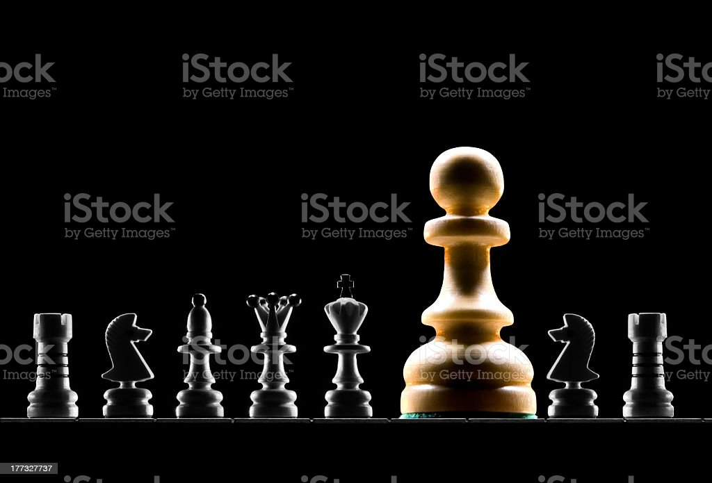 Strong player (present the man). Chess metaphor... royalty-free stock photo