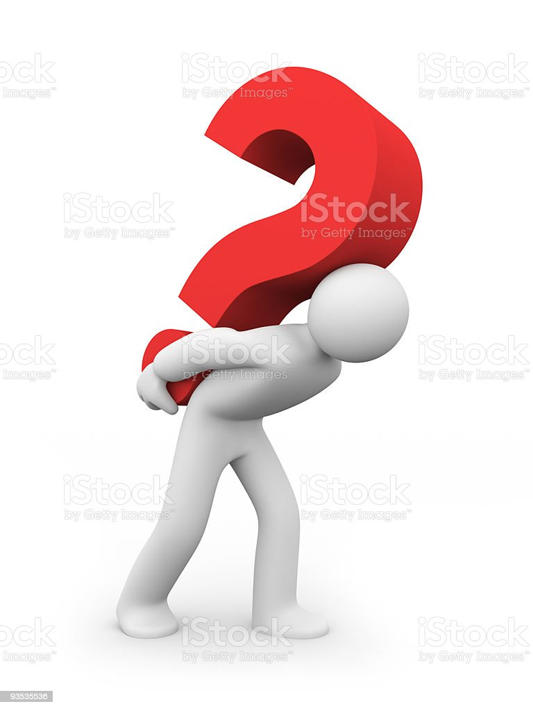 Strong question royalty-free stock photo