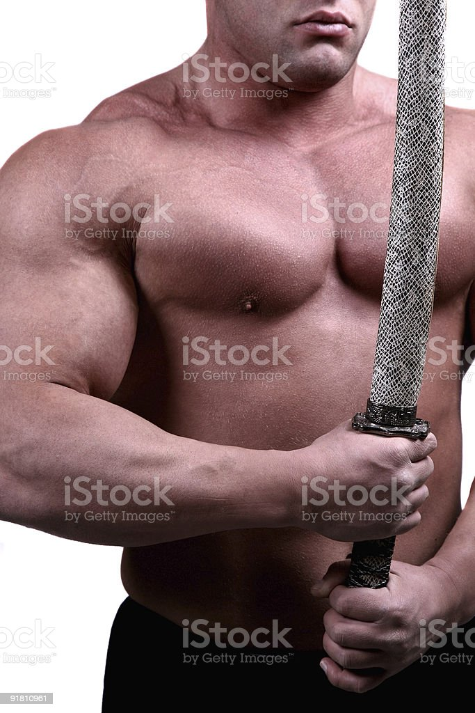 Strong Samurai details royalty-free stock photo