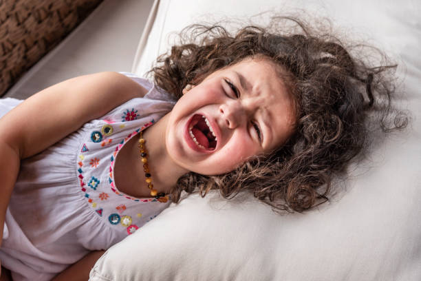 Strong screaming due to a tantrum Yelling in a high pitch volume anger stock pictures, royalty-free photos & images