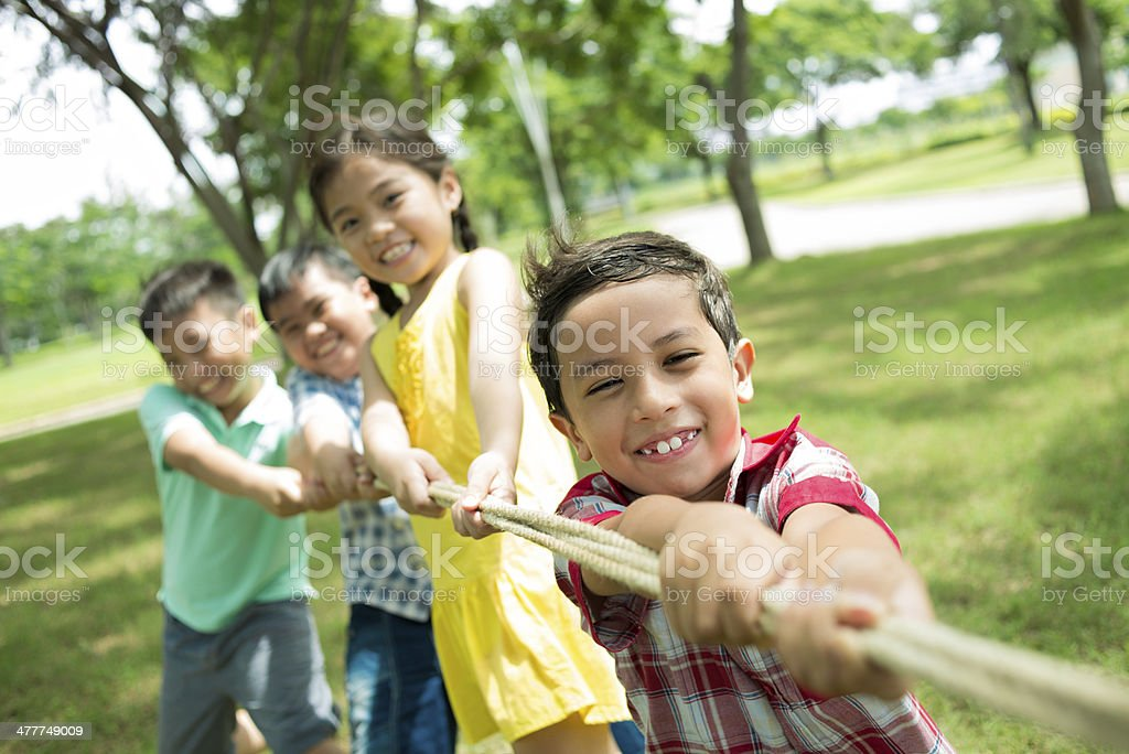 Strong team royalty-free stock photo