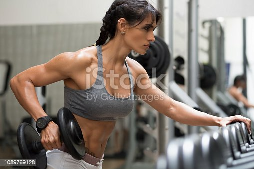 Body Building, Women, One Woman Only, Exercising, Only Women