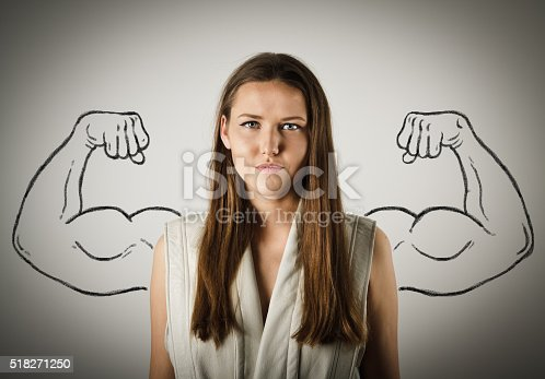 istock Strong woman concept 518271250