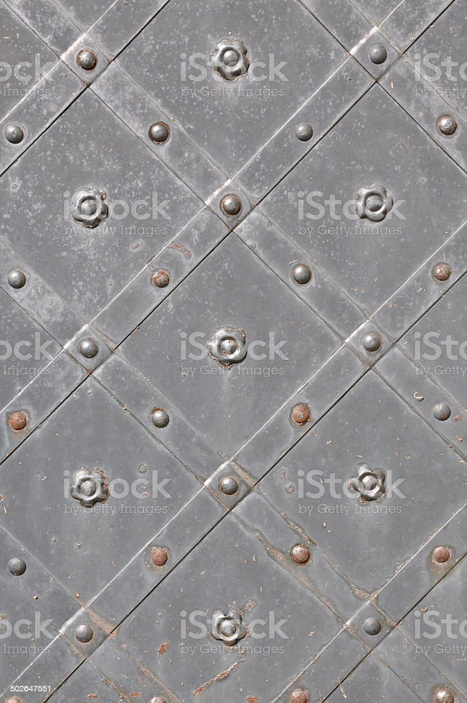 Strong wrought iron door stock photo